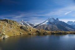 De zomer hoge berg lanscape royalty-vrije stock fotografie