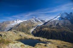 De zomer hoge berg lanscape royalty-vrije stock afbeelding