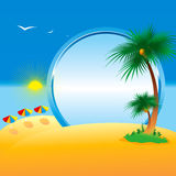 De zomer. Inzameling van vier seizoenen. Vector. Stock Fotografie
