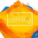 De zomer komt royalty-vrije illustratie
