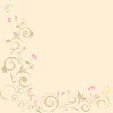 De zomer krult patroon met bloem Stock Foto's