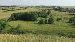 De zomer landelijk landschap stock video