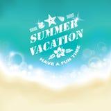 De zomer mariene achtergrond Royalty-vrije Stock Foto's
