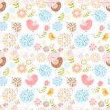 De zomer mooi bloemen naadloos patroon Royalty-vrije Stock Afbeelding
