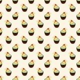 De zomer Naadloos Patroon met Pina Colada Cocktails Stock Afbeeldingen