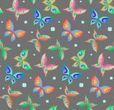 De zomer naadloos patroon met vlinders royalty-vrije illustratie