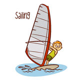 De zomer Olympische Sporten sailing stock illustratie