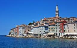 De zomer op Adriatic, Rovinj stock afbeelding