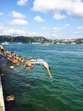 De zomer op Bosphorus Stock Fotografie