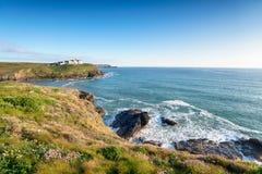 De zomer op de Kust Van Cornwall Royalty-vrije Stock Afbeeldingen