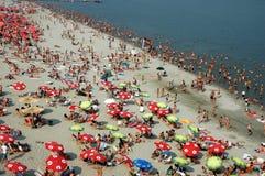 De zomer op de rivier Donau in Servië Stock Afbeelding