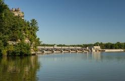 De zomer op de Rivier van Illinois Royalty-vrije Stock Foto's