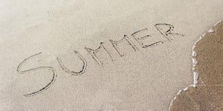 De zomer op het strand stock foto