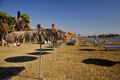 De zomer op het strand in Cyprus Royalty-vrije Stock Foto