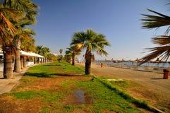 De zomer op het strand in Cyprus Stock Afbeelding