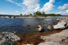 De zomer op Ladoga Stock Fotografie