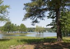 De zomer op Smith Lake stock afbeeldingen