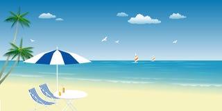 De zomer op strand Stock Afbeeldingen