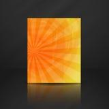 De zomer Oranje Banner. Stock Foto's
