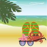 De zomer, overzees, strand Royalty-vrije Stock Foto
