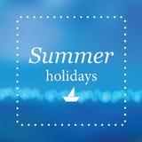 De zomer overzeese achtergrond Stock Afbeelding
