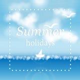 De zomer overzeese achtergrond Stock Foto