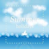De zomer overzeese achtergrond Royalty-vrije Stock Foto's