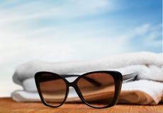De zomer, pret, zonnebril Royalty-vrije Stock Foto