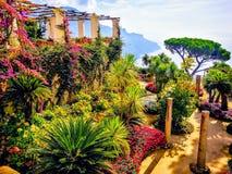 De zomer in Ravello Italië stock afbeelding
