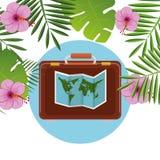 De zomer, reis en vakantie Stock Afbeeldingen