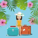 De zomer, reis en vakantie Stock Foto