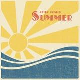 De zomer retro affiche Stock Foto