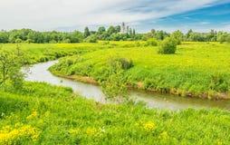 De zomer Russisch landschap royalty-vrije stock afbeelding
