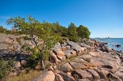 De zomer in Scandinavië Stock Fotografie