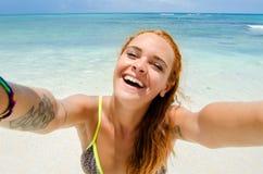 De zomer selfie meisje Royalty-vrije Stock Fotografie