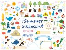 De zomer set6 vector illustratie