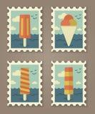 De zomer stempelt ijs creame Stock Foto's