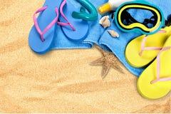 De zomer, Strand, Vakanties Stock Foto's