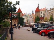 De zomer Tallinn in de vroege ochtend royalty-vrije stock foto