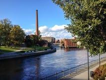 De zomer in Tampere stock afbeelding