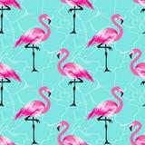 De zomer tropisch patroon met flamingovogel royalty-vrije illustratie
