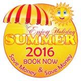 De zomer Vakantie 2016 de Achtergrond van Pakketkortingen vector illustratie