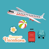 De zomer, vakanties en reis Stock Fotografie