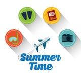 De zomer, vakanties en trave Stock Afbeelding
