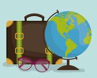 De zomer, vakanties en trave Royalty-vrije Stock Afbeeldingen