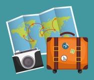 De zomer, vakanties en trave Stock Foto's