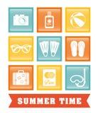 De zomer, vakanties en trave Stock Afbeeldingen