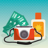De zomer, vakanties en trave Royalty-vrije Stock Afbeelding
