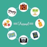 De zomer, vakanties en trave Royalty-vrije Stock Fotografie