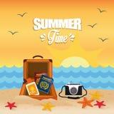 De zomer, vakanties en trave Royalty-vrije Stock Foto's